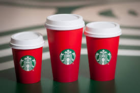 red starbucks cups all sizes
