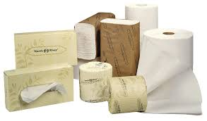 all forms of tissue paper displayed on white background